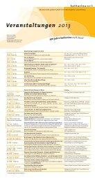 Veranstaltungen 2013 - Katharina Werk