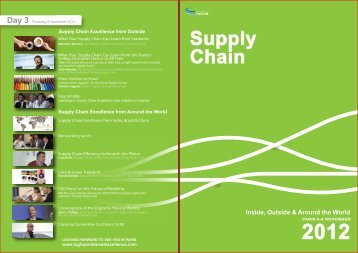 Supply Chain 2012 - Consumer Goods Forum
