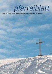 1/2012 1. bis 31. Januar Katholische Pfarreien Langnau und ...