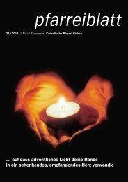 Pfarreiblatt Nr. 21/2011 - Pfarrei Ebikon