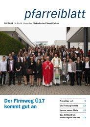 Pfarreiblatt Nr. 20/2011 - Pfarreien Ebikon