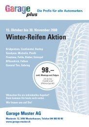 15. Oktober bis 30. November 2008 Winter-Reifen Aktion - gpcom.ch
