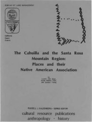 The Cahuilla and the Santa Rosa Mountain Region: Places and ...