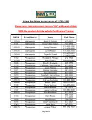 School Bus Driver Instructors as of 11/27/2012 Please note ...
