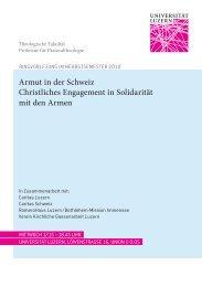 Flyer Armut in der Schweiz.indd - Armut halbieren