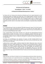 Jahresbericht des Präsidenten 2010 - Cercle des Chefs de Cuisine ...