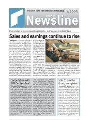 Newsline 1/2003 - Kolbenschmidt Pierburg AG