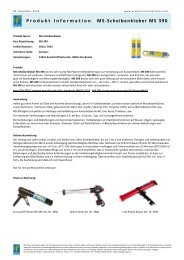 Produkt Information MS-Scheibenkleber MS 390 - Pro Part Handels ...