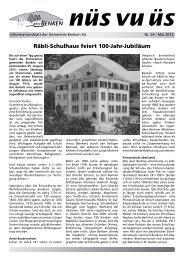 nüs vu üs Nr. 26 (Mai 2012) [PDF - Benken