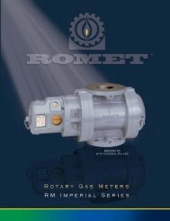 Romet Rotary Gas Meter Catalogue PDF - IMAC Systems, Inc.