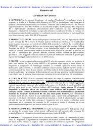 Condizioni di vendita - Rometec srl