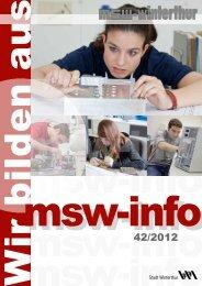 msw-info Ausgabe 42 - msw-winterthur