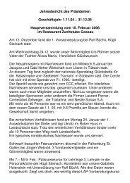 Jahresbericht 05 Präsi - Cercle des Chefs de Cuisine St.Gallen ...
