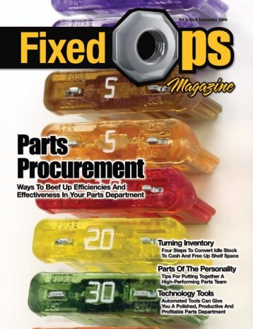 September 2006 Issue.pdf - Fixed Ops Magazine