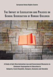 The Impact of Legislation and Policies on School - European Roma ...