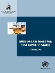 rule-of-law tools for post-conflict states - Office of the High ...