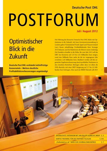 Juli / august 2012 - Deutsche Post DHL