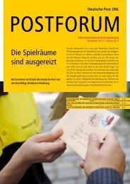 Die Spielräume sind ausgereizt - Deutsche Post DHL