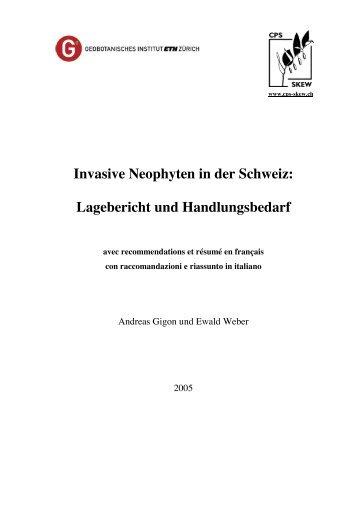 Invasive Neophyten in der Schweiz: Lagebericht und ...