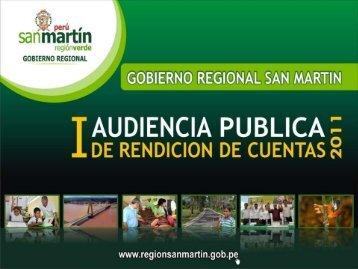 I AUDIENCIA PUBLICA 2011 - Gobierno Regional de San Martín
