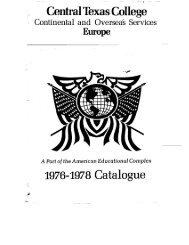 1976-1978 Catalogue - Central Texas College