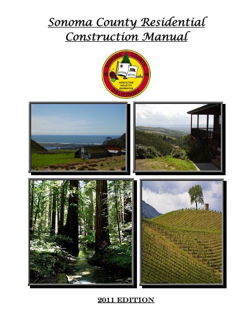 Sonoma County Residential Construction Manual - County of SonomaYumpu