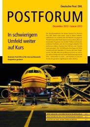 In schwierigem Umfeld weiter auf Kurs - Deutsche Post DHL