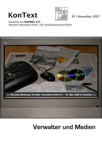 Ausgabe Nr. 21 / November 2007, Thema: Verwalter und - KonNet e.V.