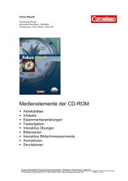 Medienelemente der CD-ROM - Cornelsen Verlag