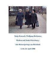 Tanja Konzack. Wolfgang Horlamus: Moskau und Sankt Petersburg ...