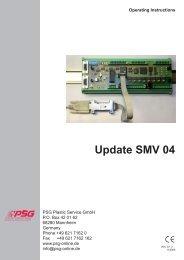 Operating Instructions SMV 04 Update - psg-online.de