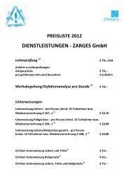 DIENSTLEISTUNGEN - ZARGES GmbH
