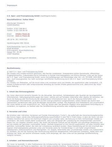 Formular Cv Spar Und Finanzplanung