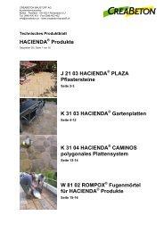 hacienda - Creabeton Baustoff AG