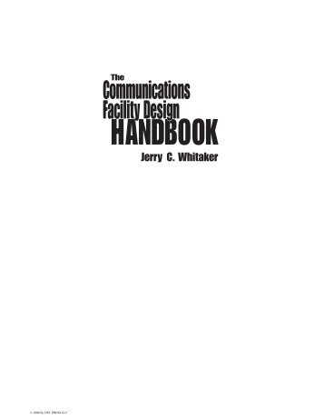 The Communications Facility Design Handbook - Department of ...