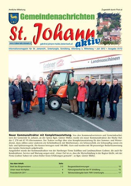 St. Johann Haide in Hartberg-Frstenfeld - Thema auf