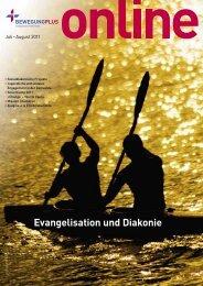 Juli - August: Evangelisation und Diakonie - BewegungPlus