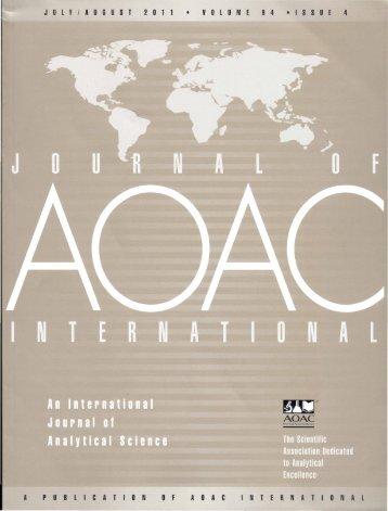 journal of aoac international