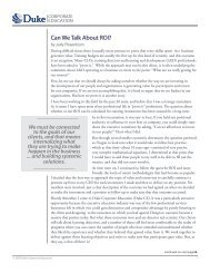 Can We Talk About ROI? - Duke Corporate Education