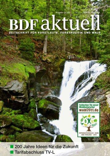 Ausgabe 04/11 - Bund Deutscher Forstleute (BDF)