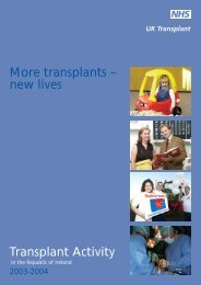 ROI Activity Report 2003-2004 - Organ Donation