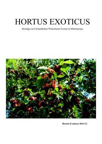 HORTUS EXOTICUS - Exotenbuch.de
