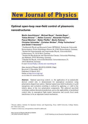Paper as PDF - Fachbereich Physik der Universität Kaiserslautern