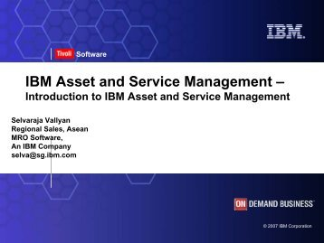 IBM Asset And Service Management