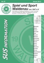 Die SuS-Information 67 herunterladen (2 MB). - Spiel und Sport ...