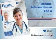 Media- Informationen 2010 - DGUV Forum