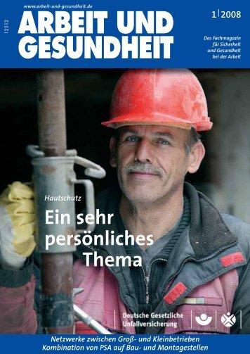 Januar 2008 - Arbeit und Gesundheit