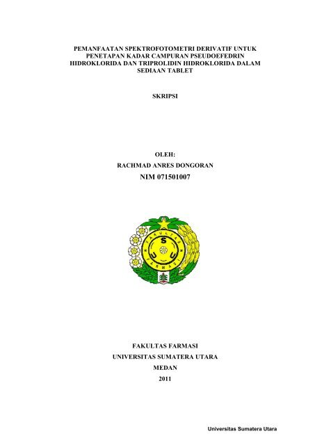 Nim 071501007 Usu Institutional Repository Universitas