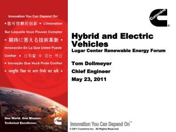 Hybrid and Electric Vehicles - Purdue School of Engineering and ...