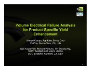 Volume Electrical Failure Analysis for Product ... - DCG Systems